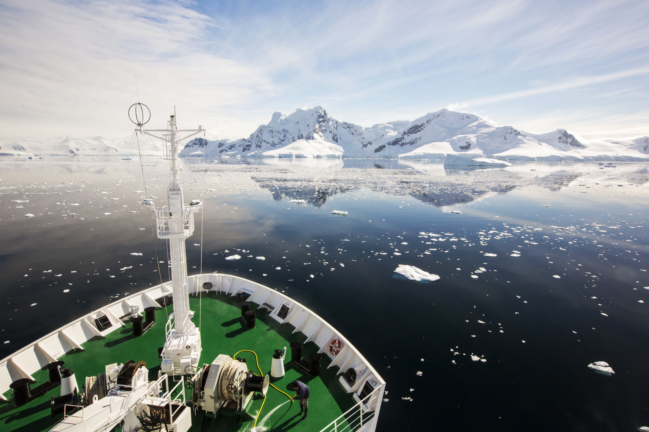 View from an icebreaker deck