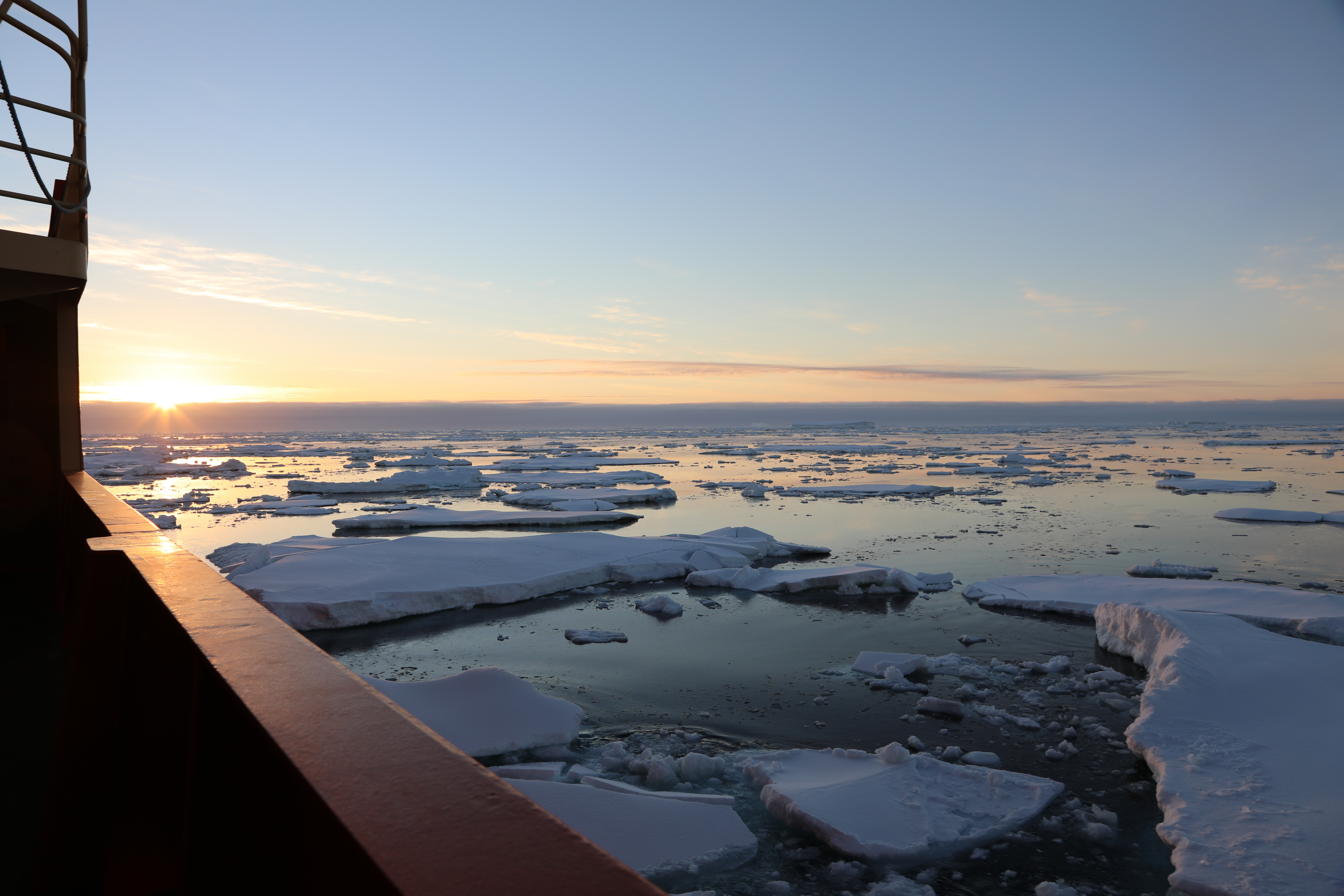 Sea ice viewed from the ship