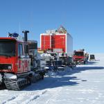 trucks and equipment on snow