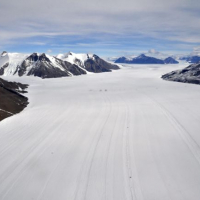 Thwaites Glacier from the air, by David Vaughan