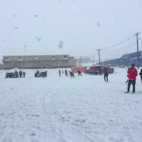 snowball fight at McMurdo